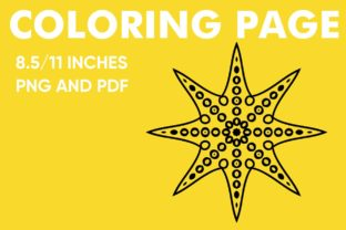 Print on Demand: Star Mandala Coloring Page Graphic Coloring Pages & Books Kids By Mah Moud