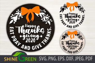 Print on Demand: Thanksgiving SVG 2020 Monogram for Fall Graphic Crafts By ShineGreenArt