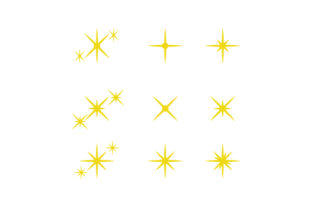 Print on Demand: Twinkling Star and Sparkles Icon Design Graphic Icons By Muhammad Rizky Klinsman