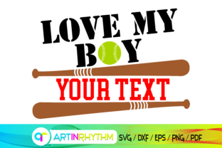 Baseball Svg, Love My Boy Svg, Baseball Graphic Crafts By artinrhythm
