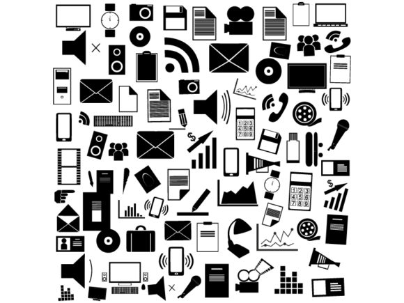 Icons Background,technology Icons,vector Graphic Icons By ekimova_lisa