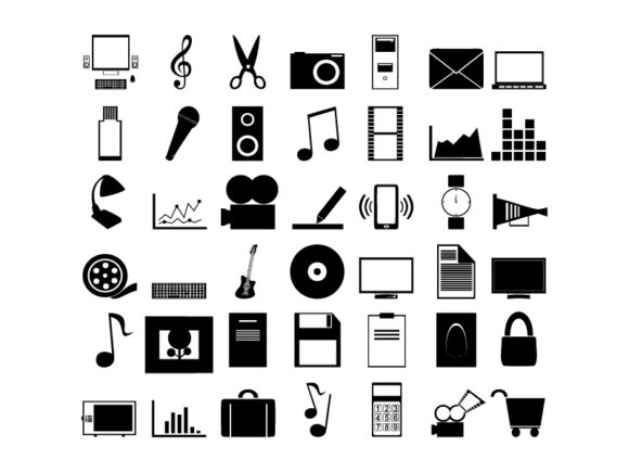 Icons Different,vector Illustration Graphic Icons By ekimova_lisa