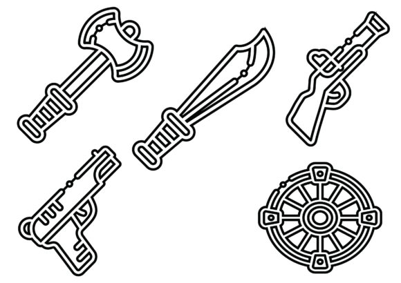Weapon Black Graphic Icons By ssiimpti73