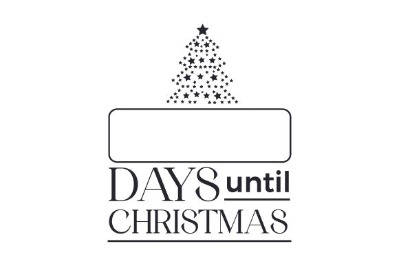 Days Until Christmas Cut File Download