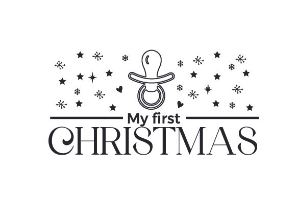 My First Christmas Cut File Download