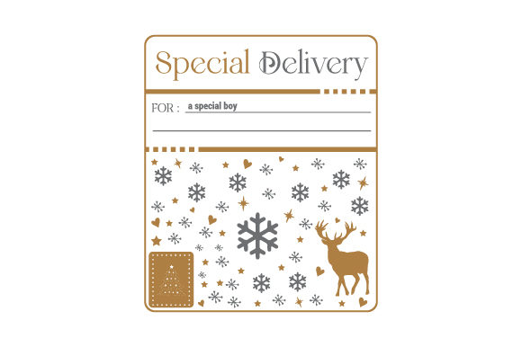 Special Delivery for a Special Boy Christmas Craft Cut File By Creative Fabrica Crafts
