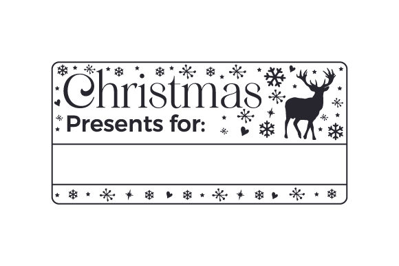 Christmas Presents for ____________ Cut File Download