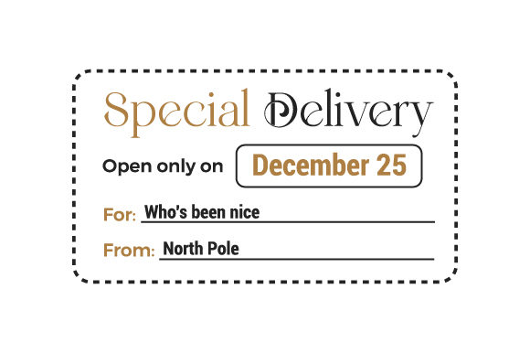Special Delivery Christmas Craft Cut File By Creative Fabrica Crafts