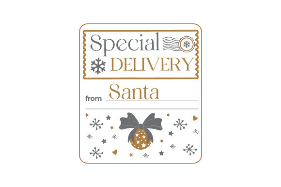 Special Delivery from Santa Cut File