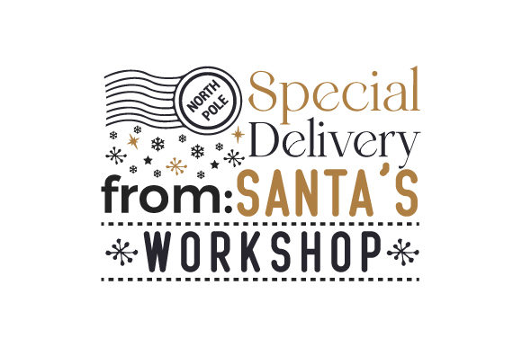 Special Delivery from Santa's Workshop Christmas Craft Cut File By Creative Fabrica Crafts