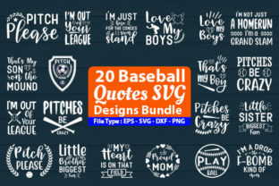 Print on Demand: Baseball Design Bundle Graphic Print Templates By Design Store