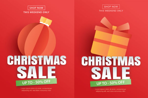 Christmas Sale Banner 2 Graphic Illustrations By khanisorn