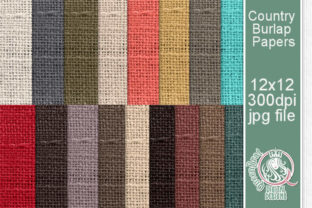 Country Burlap Paper Pack Graphic Backgrounds By QueenBrat Digital Designs