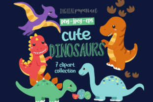 Print on Demand: Cute Dinos Graphic Illustrations By DigitalPapers
