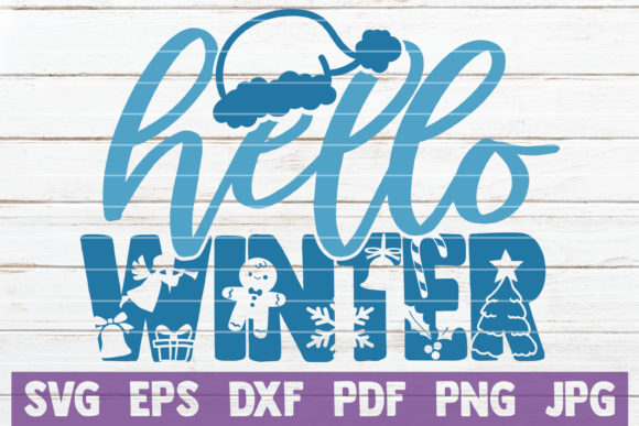 Hello Winter Graphic Crafts By MintyMarshmallows