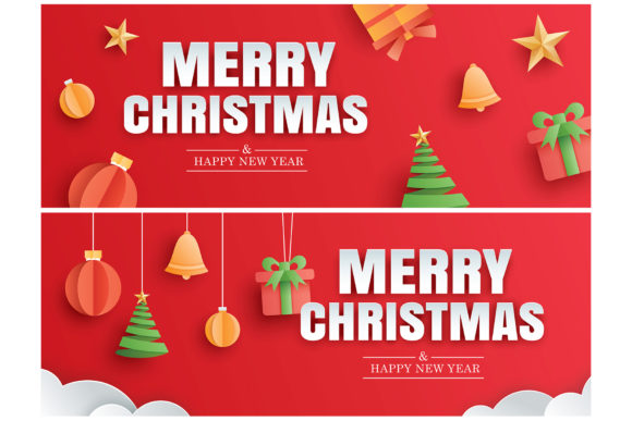 Merry Christmas Greeting Card 4 Graphic Illustrations By khanisorn
