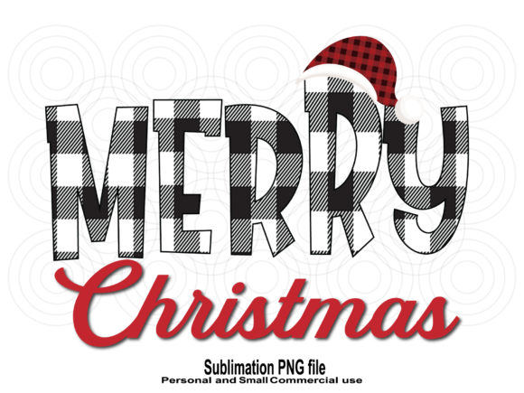Print on Demand: Merry Christmas Plaid Sublimation Design Graphic Crafts By TripleBcraft