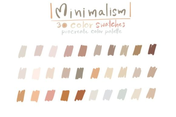Minimalism - Procreate Color Palettes Graphic Add-ons By Wanida Toffy