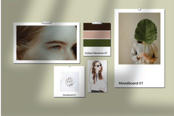Print on Demand: Moodboard Mock Up Template Graphic Graphic Templates By nirmala.graphics