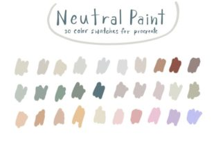 Neutral Paint - Procreate Color Palettes Graphic Add-ons By Wanida Toffy