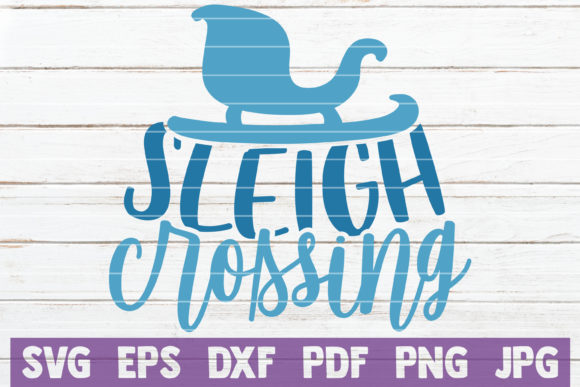 Sleigh Crossing Graphic Crafts By MintyMarshmallows