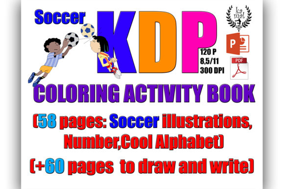Soccer Activity Book (KDP) Graphic KDP Interiors By Kamal Essouafi