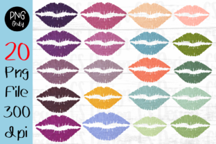 Print on Demand: Sublimation Colorful Kissing Lip Design Graphic Crafts By CSDesign