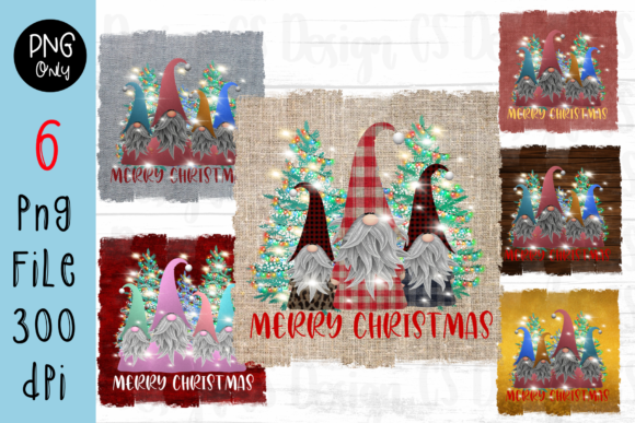 Print on Demand: Sublimation Gnomes Family Christmas Grafik Plotterdateien von CSDesign
