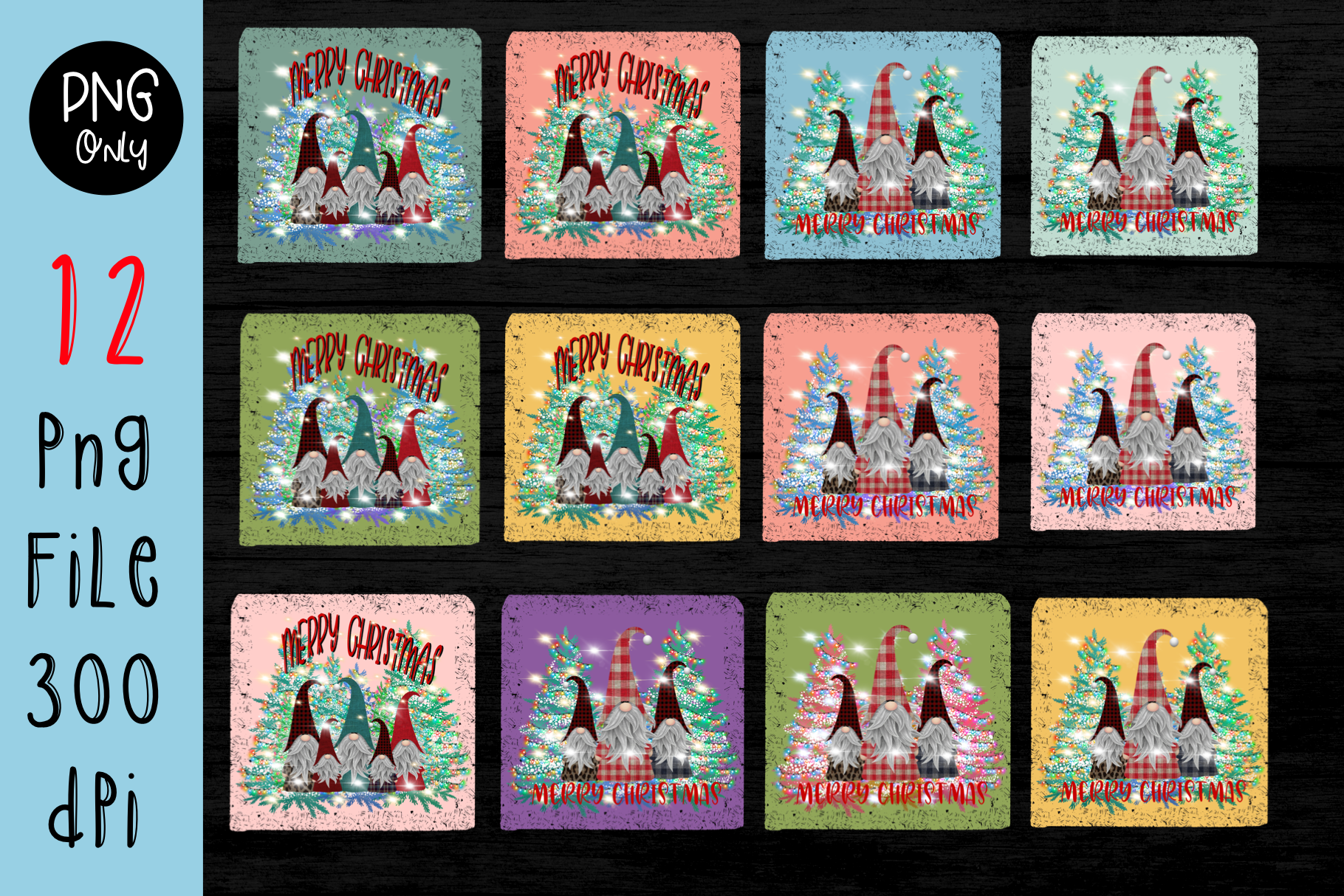Sublimation Gnomes Family Christmas SVG File