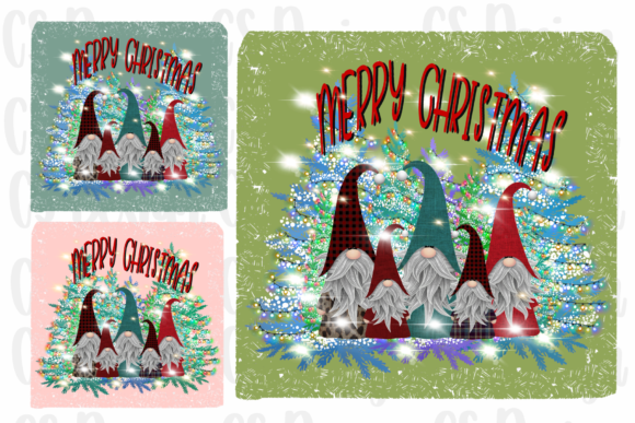 Sublimation Gnomes Family Christmas Graphic Download