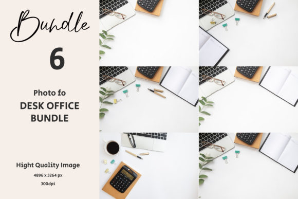 Desk Office on White Background. Graphic Backgrounds By Avadesing