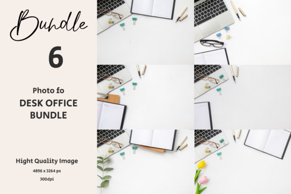 Desk Office on White Background Graphic Backgrounds By Avadesing