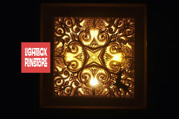07 Mandala Home Decor 3d Paper Lightbox Graphic 3D Shadow Box By lightbox.rinstore