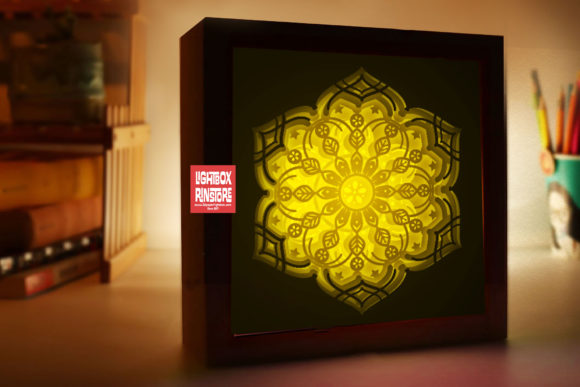 181 Mandala 3d Paper Lightbox Templates Graphic 3D Shadow Box By lightbox.rinstore