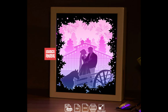 198 Marry Me 3d Paper Lightbox Template Grafik 3D Schattenbox von lightbox.rinstore