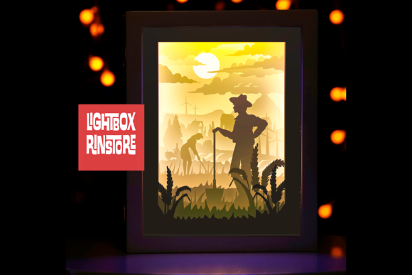 79 Farmer 3d Paper Lightbox Templates Graphic 3D Shadow Box By lightbox.rinstore