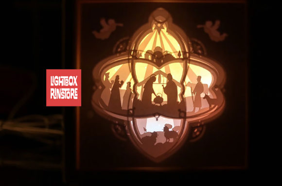 83 Christmas Jesus 3d Paper Lightbox Graphic 3D Shadow Box By lightbox.rinstore
