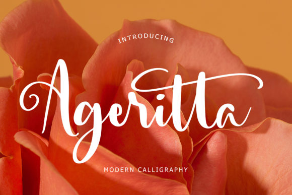 Print on Demand: Ageritta Script & Handwritten Font By formatikastd