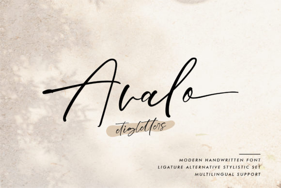 Print on Demand: Avalo Script & Handwritten Font By etigletters