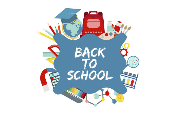 Back to School Vector Banner Concept Graphic