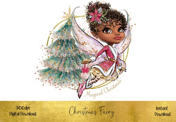 Beautiful Christmas Fairy Grafik Illustrationen von STBB