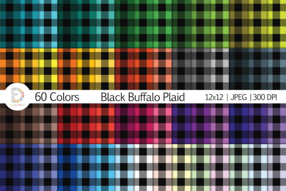 Print on Demand: Black Buffalo Plaid Graphic Patterns By FounDream