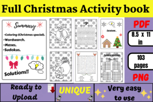 Christmas Activity Book for Kids (kdp) Graphic KDP Interiors By Wiss_Tips designs