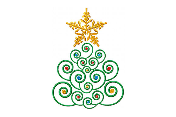 Print on Demand: Christmas Fir Christmas Embroidery Design By EmbArt