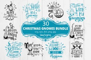 Print on Demand: Christmas Gnome Quotes Svg Bundle Graphic Crafts By Sintegra