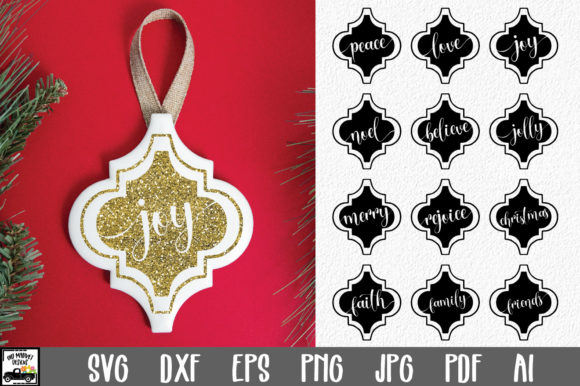 Print on Demand: Christmas Ornament Bundle Graphic Crafts By oldmarketdesigns