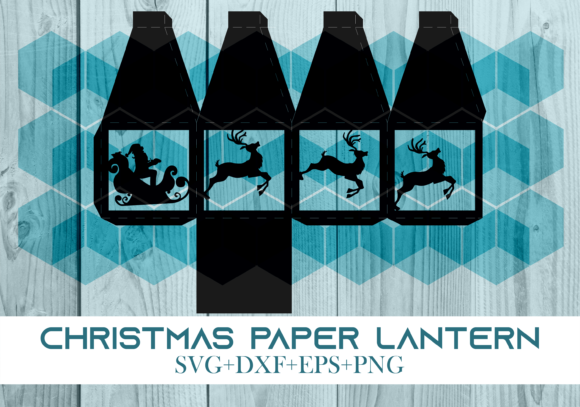 Print on Demand: Christmas Paper Lantern Series 0002 Graphic 3D SVG By Cerescrafts