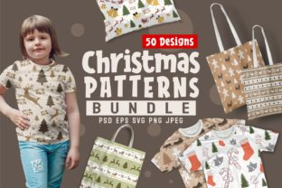Print on Demand: Christmas Seamless Patterns Bundle Graphic Patterns By Universtock