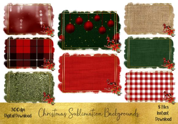 Christmas Sublimation Backgrounds Grafik Hintegründe von STBB