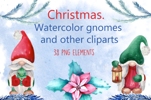 Print on Demand: Christmas. Watercolor Cliparts Graphic Illustrations By Natika_art